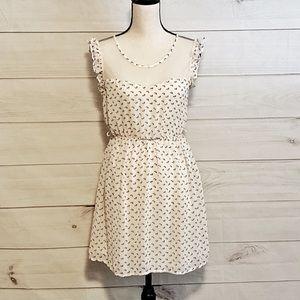 Forever 21 White Sleeveless Floral Dress Sz SM